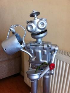 Robot con flor